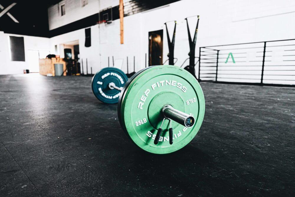 heavy weights in a empty room